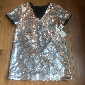 1. State Dresses - 1.State Sequin Shift Mini Dress